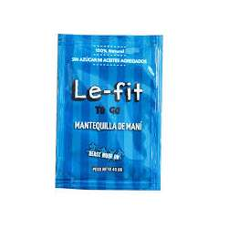 MANTEQUILLA DE MANI NATURAL SOBRES X 40 GR LE FIT