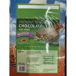 CHOCOLATE CON LECHE Y MANI SIN AZUCAR X 50 GRS. NUTRESAN