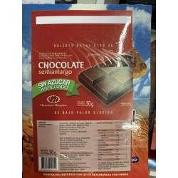 CHOCOLATE SEMI AMARGO SIN AZUCAR X 50 GRS. NUTRESAN