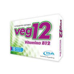 VITAMINA B12 VEG 12 X 15 COMP ISA