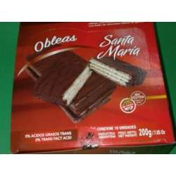 OBLEAS SABOR LIMON BAÑADAS EN CHOCOLATE SANTA MARIA