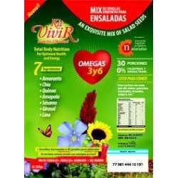 MIX DE SEMILLAS OMEGA 3 Y 6 COLESTEROL X 230 GR KIT VIVIR